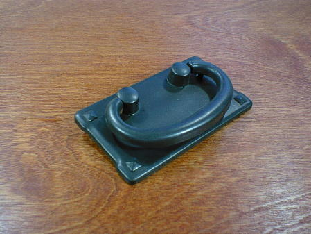 Mission style black oxide horizontal bail pull for Craftsmen hardware